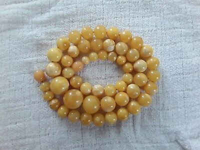 Bernsteinkette Baltic Amber Necklace Butterscotch Beads Balls