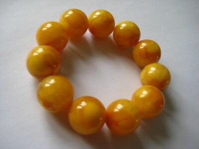 Bernsteinarmband Baltic Amber Bracelet Butterscotch Balls 18 mm