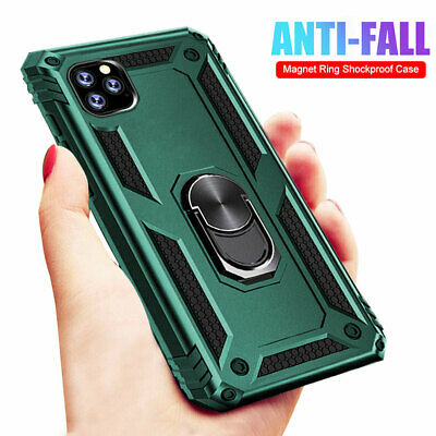 Shockproof Case For iPhone 11Pro XS Max X XR 6 7 8 Armor Ring Stand Holder Cover