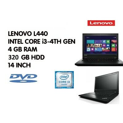 FAST CHEAP Lenvo L440 LAPTOP CORE i3 4GB RAM 320GB HDD  Wi-Fi WINDOWS 7/10