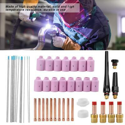49pcs TIG Gas Lens Collet Body Consumables Set Fit WP 17/18/26 TIG Welding Torch