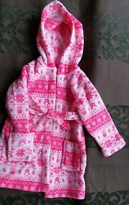 Pink pattern girls dressing gown 18-24 Months by BlueZoo