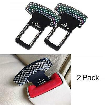 2x Car Aid Safety Seat Belt Buckle Alarm Stopper Clip Canceller Clamp Universal