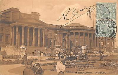 br109832 st johns gardens liverpool real photo uk