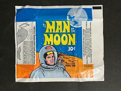 Trading Card Wax Wrapper Topps Man On The Moon Vintage Wrapper