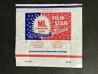 TRADING CARD MAPLE-LEAF FILM STAR PARADE RARE 1960's WAX WRAPPER