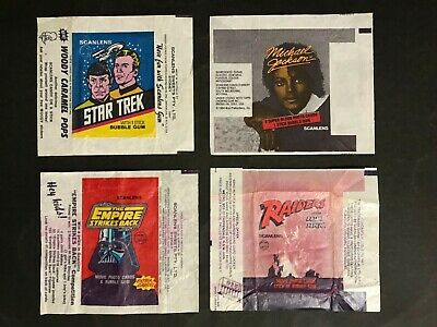 Scanlens Trading Card Wax Wrapper Lot Of 4