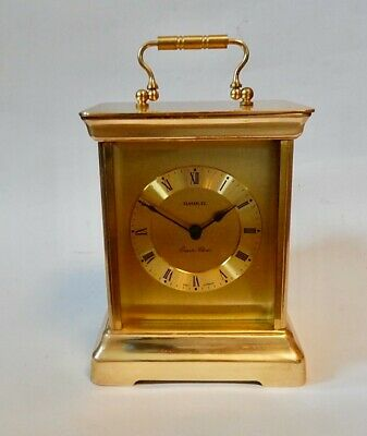 Superb German Electronic Westminster Chiming Brass Carriage Clock.