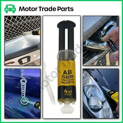 Epoxy Resin Plastic Metal Glass - 2 Part Mix Fast Setting Automotive Adhesive
