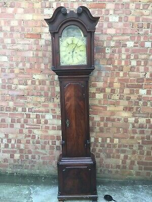 Fine Early George The Third Mahogany Eight Day Brass Face Long Case Clock C1765