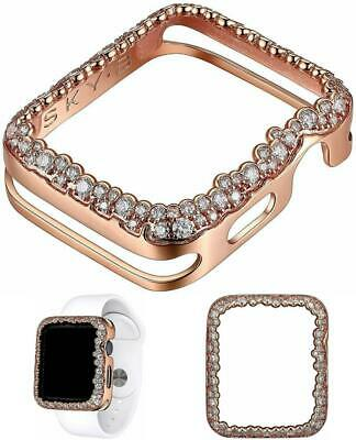 14K 18K Gold Rhodium Plated Cz Champagne Bubbles Jewelry Apple Watch 5 4 3 Case