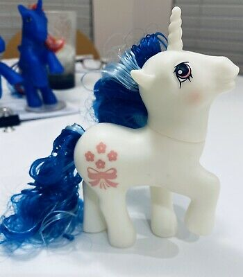 G1 Style Date Night My little Pony Custom Hqg1c - True Blue - Alt Hair Glows!