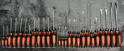 LOT of USA Craftsman Professional Screwdriver 26pc Set Flat Phillips 3/8 5/16 ++