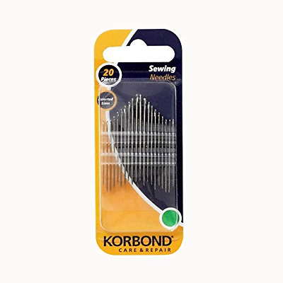 Korbond 20 Piece Set Needle Assortment for a Multitude of Hand Sewing, Repairs,