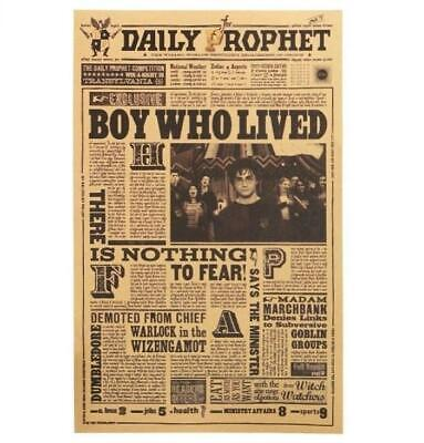 Harry Potter Boy Who Lived Paper Daily Prophet Movie Poster