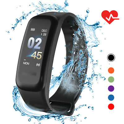 IP67 Braccialetto intelligente Donna Uomo Fitness Tracker Orologio con R2J7
