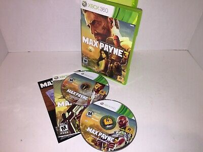 Max Payne 3 (Microsoft Xbox 360, 2012) LOT FUN NTSC GAME
