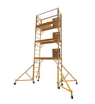 18 Foot Multi Purpose Rolling Scaffolding with Hatch, 1000-LB Capacity