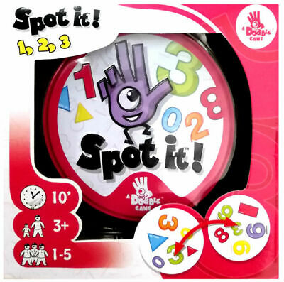 Spot It! 1,2,3 Boxed Number Family Card Game Asmodee Zygomatic SP432 123