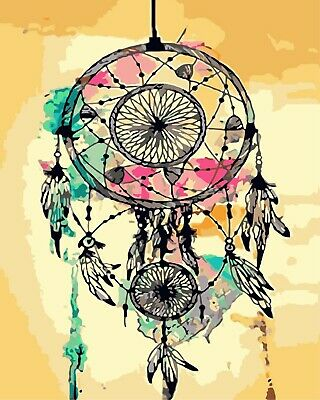 Lone Wolf Magical Dream Catcher Painting By Numbers Wall Art DIY Kit P01