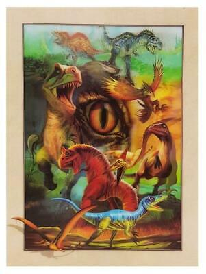 Dinosaurs T-Rex Jurassic 3D Lenticular Holographic Moving Poster Print Picture