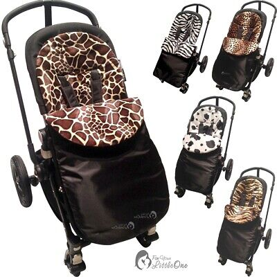 Pushchair Animal Print Footmuff / Cosy Toes Compatible With Mamas & Papas