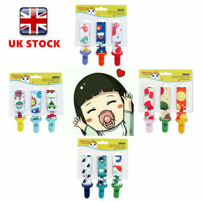 3 Pack Baby Universal Pacifier Clip Infant Soother Dummy Soother Strap Chirdren