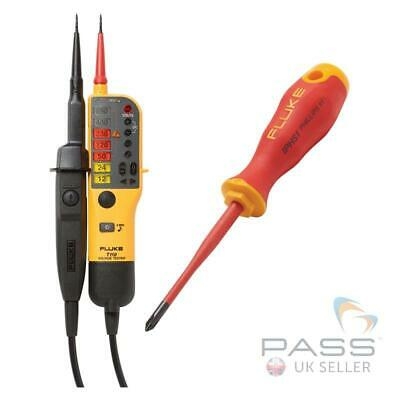 *Exclusive* Fluke T110 Two-Pole Voltage Tester & FREE IPHS1 Insulated Screwdr...