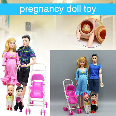Baby Toys Real Pregnant Doll With Mini Baby For Barbie Educational Gift Xmas
