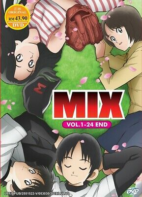 DVD Anime MIX (Meisei Story) Complete TV Series (1-24 End) English Dubbed