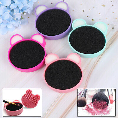 Makeup Brush Cleaner Double Side Design Cosmetic Brush Clean Box Removal Spo RK