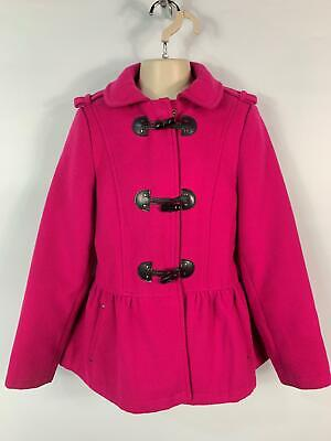Girls George Pink Toggle Casual Winter Swing Jacket Coat Kids Age 9/10 Years