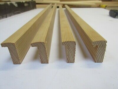 2.8m = 84x63cm Unfinished Pine Box Wooden Picture Frame Moulding 17mm wide