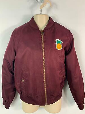 Girls H&M Burgundy Red Zip Up Casual Bomber Jacket Coat Kids Age 10/11 Years