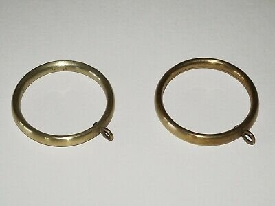 Beautiful antique circa 1880s brass rings (pair) - 60mm diameter