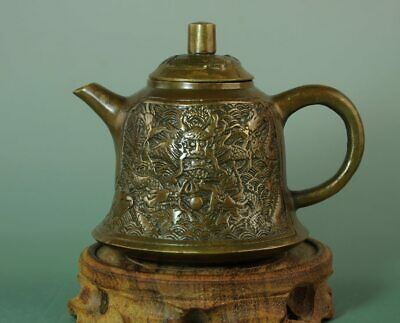 china old collection copper handmade dragon statue teapot /qianlong make Bc01