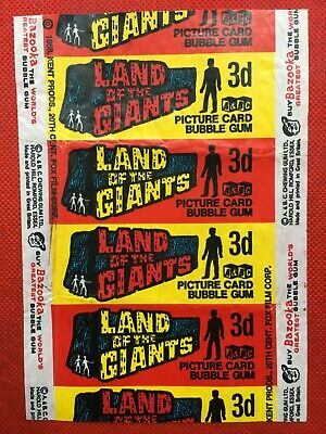 A&BC 1969 Land of the Giants 3d Bubble Gum Card Wax Wrapper - Very Good