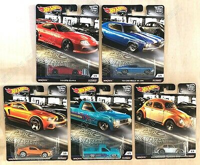 Hot Wheels Premium Car Culture 2019 Cruise Boulevard Set of 5 - 956M - In Stock