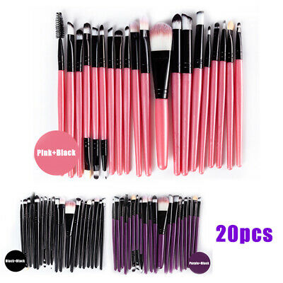 20pcs Pro Makeup Brushes Set Powder Foundation Eyeshadow Eyeliner Lip Brush Kit