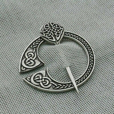 Scottish Viking Clasp Celtic Brooch Pin Medieval Cloak Shawl Pin for Men Women