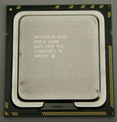 Lot of 2 Intel Xeon X5560 2.80GHz 8MB// 6.04GT//s SLBF4 Socket LGA1366 CPU