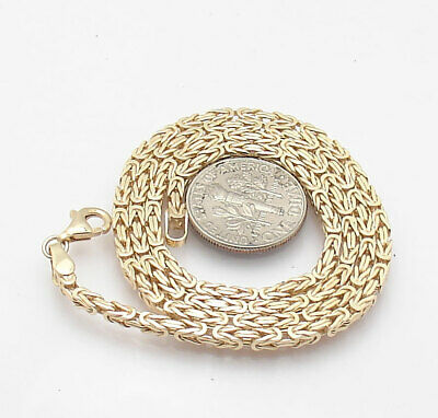 Technibond Square Box Byzantine Chain Necklace 14K Yellow Gold Clad Silver HSN
