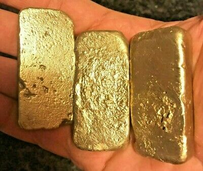 55 grams Scrap gold bar for Gold Recovery melted different computer coin pins