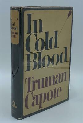 1965 IN COLD BLOOD Truman Capote FIRST EDITION FIRST PRINTING SIGNED