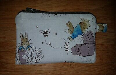 PETER RABBIT CABBAGE zipped pouch coin purse CARROTS beatrix potter free postage