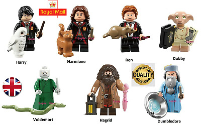 New Harry Potter Harmione Ron Dobby Voldemort Mini Figures Fits Lego Compatible