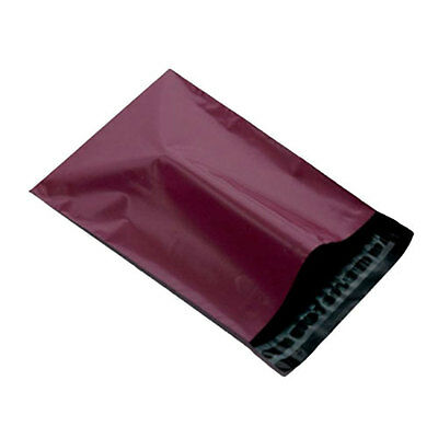 """2000 Burgundy 10"""" x 14"""" Mailing Postage Postal Mail Bags"""