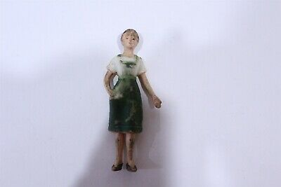 Vintage Early Plastic Figural Women Hand Painted Nylint Hong Kong