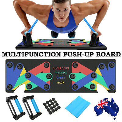 9 in1 Push Up Board Rack System Fitness Workout Train Gym Exercise Pushup Stands