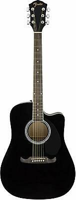 Fender FA-125CE Dreadnought Cutaway Acoustic-Electric Guitar - Black